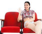 Attractive asian girl posing in studio — Stock Photo