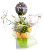 Congratulations bouquet isolated — Stock Photo