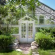 Stock Photo: Transparent greenhouse