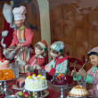 Dolls with cakes — Stock fotografie