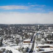 City in snow — Stock Photo