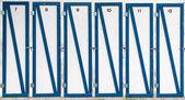 Identical doors — Stock Photo