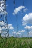 Electrical metal pillars — Stock Photo