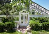 Transparent greenhouse — Stock Photo