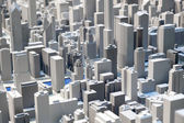 Plastic megapolis — Stock Photo