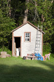 Wooden shed — Stock Photo