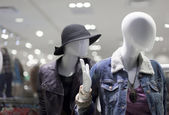 Mannequins in clothes — Stock Photo