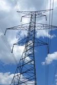 Electrical metal pillar — Stock Photo