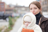 Pretty mother with kid — Stock fotografie