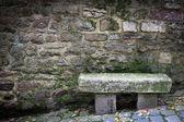 Panchina di pietra — Foto Stock