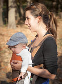 Mother with son in  park — Stock Photo