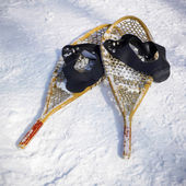 Wooden snowshoes — Stock Photo