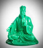 Green jade buddha — Stock Photo