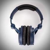 Dark blue headphones — Stock Photo