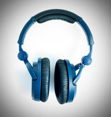Fones de ouvido azuis — Foto Stock