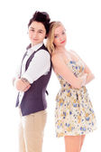 Couple with their arms crosse — Stock Photo