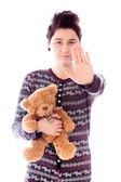 Stop gesture sign — Stock Photo