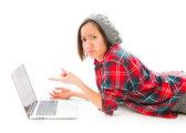 Woman looking sad — Stockfoto