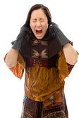 Žena křičí — Stock fotografie