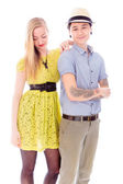 Couple standing together — Stock Photo