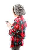 Frau text-messaging — Stockfoto