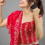 Woman celebrating success — Stock Photo #47624129