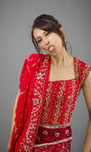 Woman  sticking out  tongue — Stock Photo