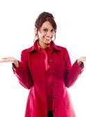 Kvinna med öppna handflator — Stockfoto