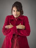 Woman shivering — Zdjęcie stockowe