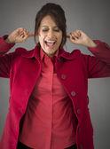 Woman in frustration — Stockfoto