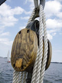 Rope of boat — Stock Photo