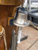 Bell hanging in boat — Stock Photo