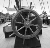 Helm of a tall ship — Stock Photo