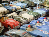 Assorted toy cars — 图库照片