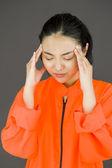 Suffering from headache — Stock Photo