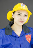 Confident firefighter — Stock Photo