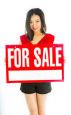For sale sign — Stockfoto