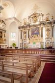 Interior of church — Stock Photo
