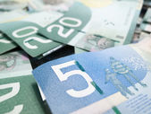 Full frame of Canadian money — Stock Photo