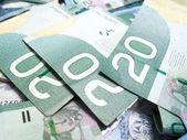 Canadian dollar bills — Stock Photo