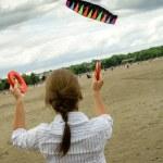 Woman paragliding — Stock Photo #48612749
