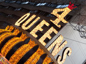 Close up of the Four Queens Casino sign — Stock Photo