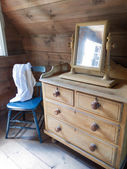Drawer in a log cabin — Stock Photo