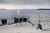 Chairs on the deck of a ferry — Stock Photo