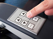 Finger pressing push buttons — Stock Photo