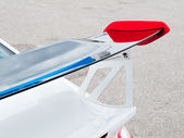Gurney flap of a car — Stock Photo