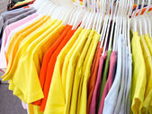 Assorted t-shirts — Stock Photo