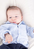 Baby boy sticking his tongue out — Stock Photo