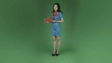Lucht gastvrouw vrouw romantiek in liefde — Stockvideo