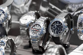 Wristwatches in a store — Stock Photo